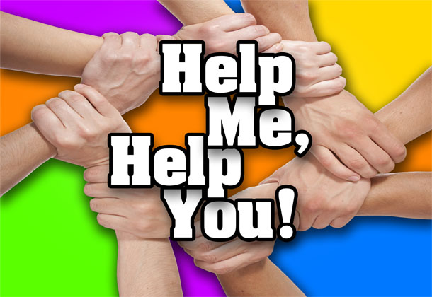 Title card for TV reality show for Help Me, Help You!