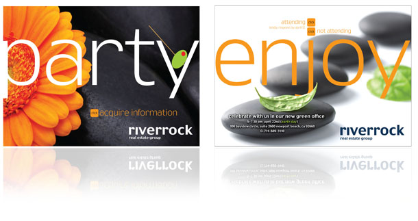 Graphic treatment for online invite for RiverRock Real estate company event