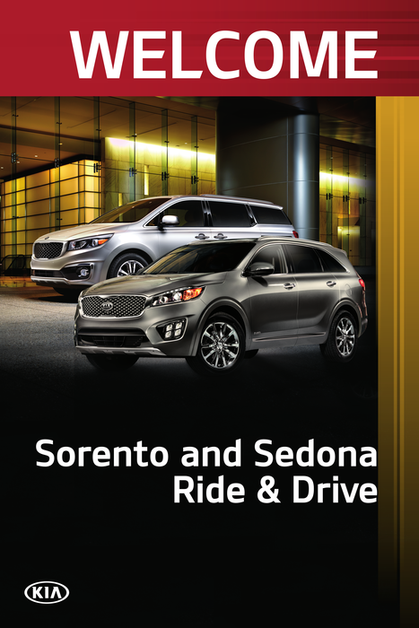 Welcome Poster Design:  Sorento and Sedona Ride