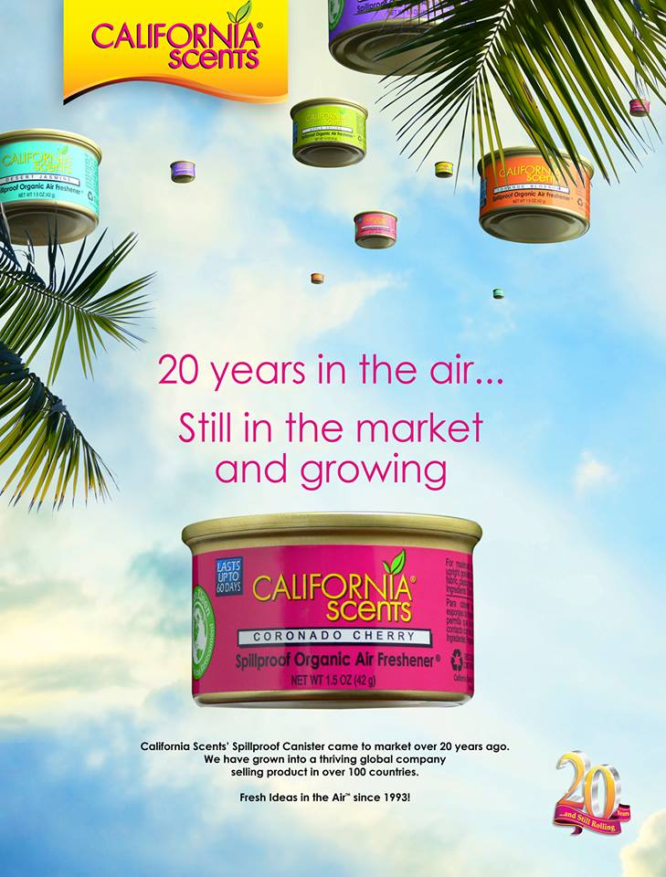 California Scents 2oth Year Anniversary Company Ad
