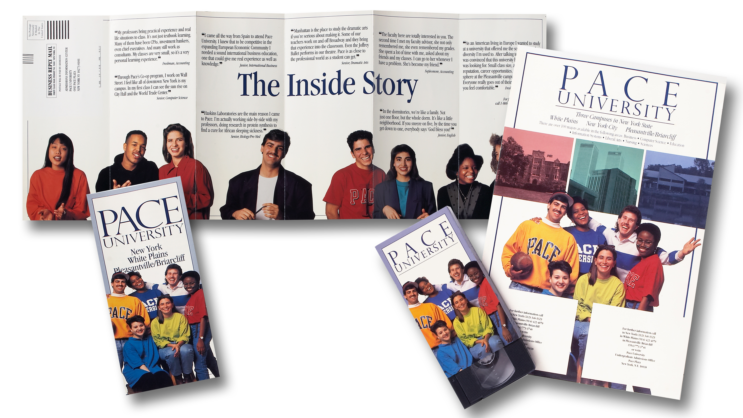 Pace University student Recruitment Package Direct Mail Campaign