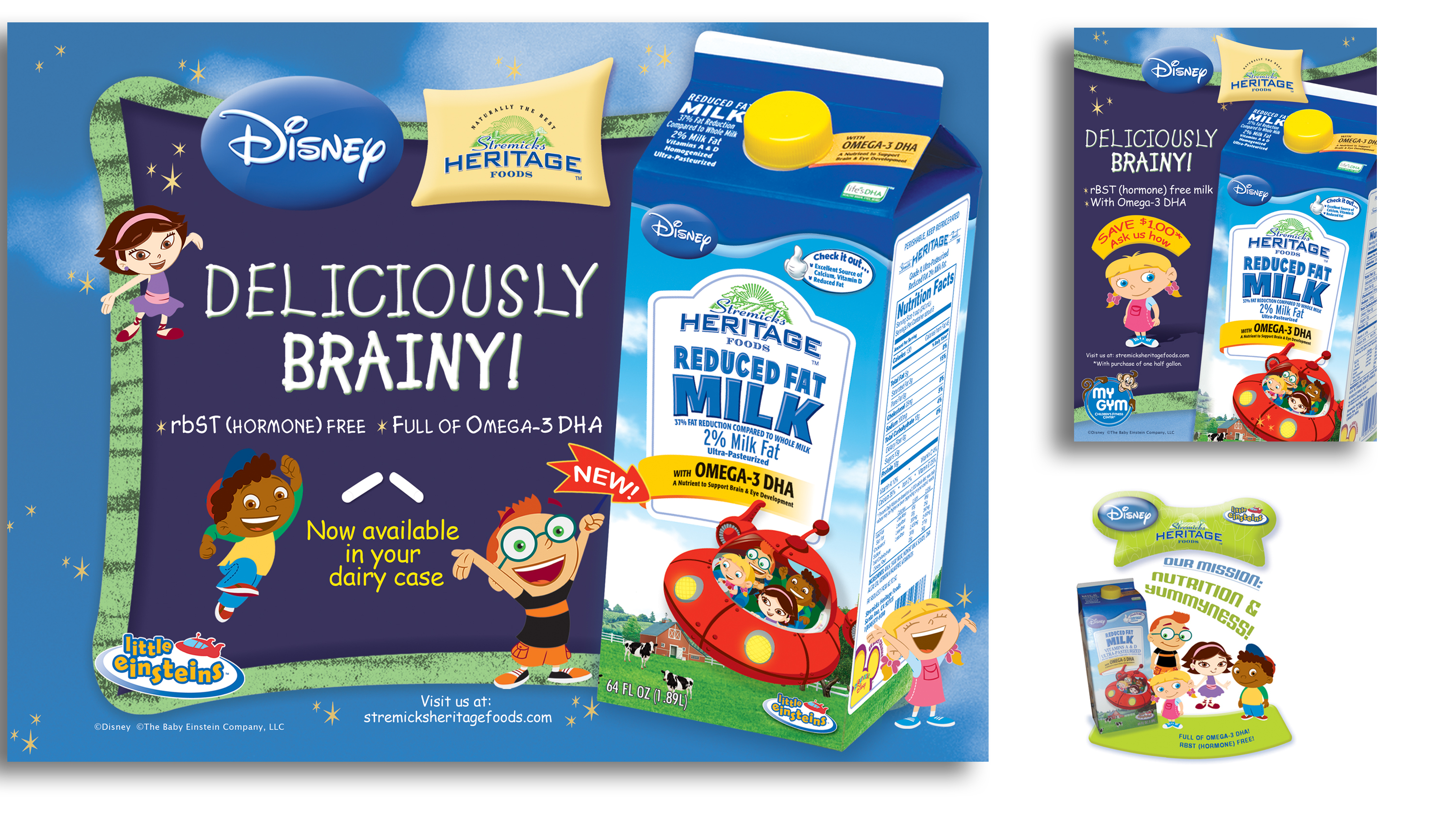 Disney's Little Einsteins and Stremicks Heritage Foods Co-op  packaging design