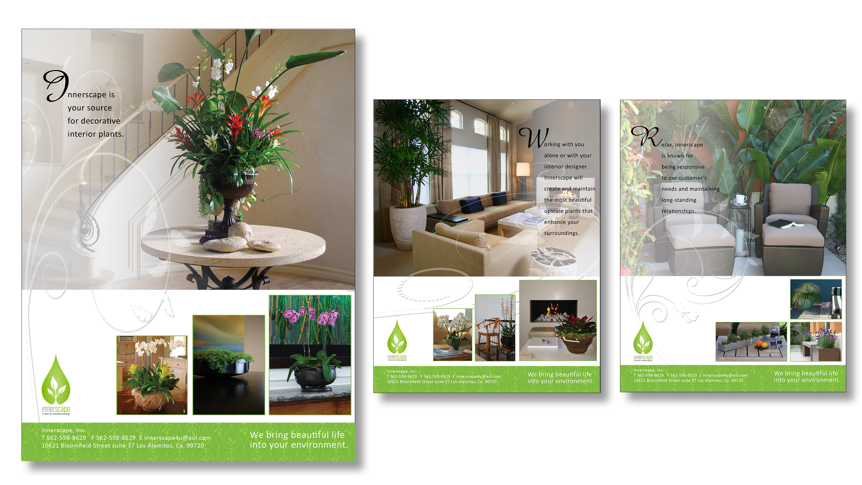 Innerscape landscaping trade ads