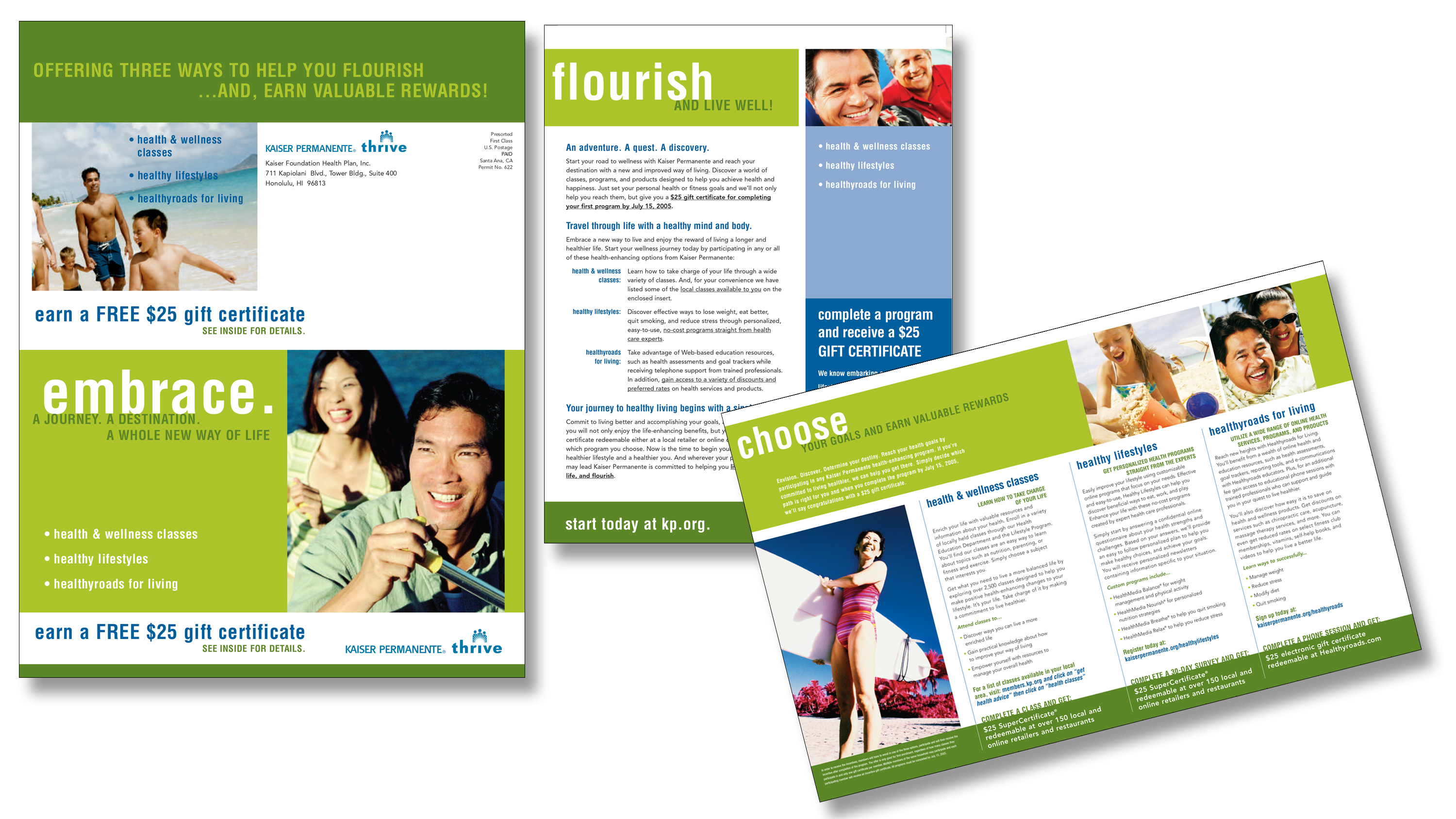 Kaiser Permanente Rewards Direct Mail Campaign